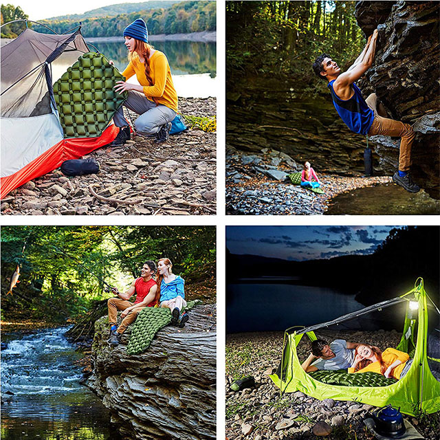 Ultralight Inflatable Sleeping Pad for Camping, Hiking, Travelling